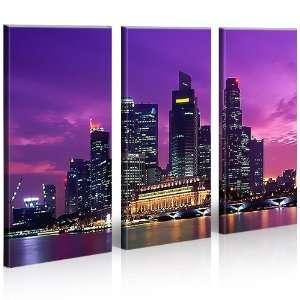 Singapore Kunst City Skyline Leinwand Singapur * Bilder auf Leinwand