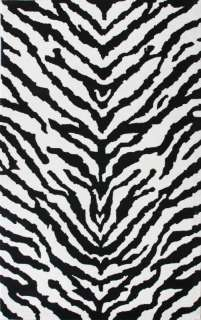 Zebra NEW Area Rug 8x10 Animal Skin Print Carpet Black