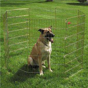 48H DOG KENNEL PET EXERCISE PLAY PEN 7 & 10 GAGE WIRE