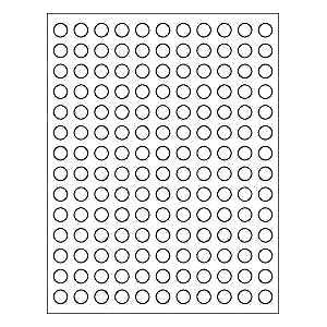 SHEETS 1/2 IN ROUND BLANK WHITE STICKERS LABELS CUSTOM TINY MINI SMALL