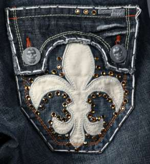 Laguna Beach Jeans Mens HERMOSA White stitch 1G Topaz Crystals