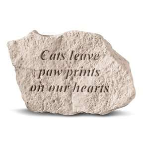 Cat Garden Stone   Cats leave paw prints