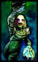 CREATURE FROM THE BLACK LAGOON CANVAS ART