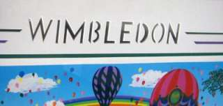 Melanie Taylor Kent Wimbledon framed serigraph artwork, Submit An