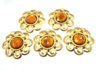 pieces size 45 mm color smoked topaz finish russian gold overlay
