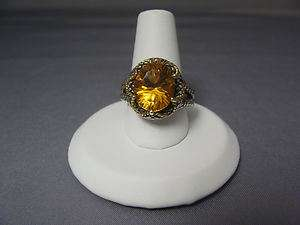 NEW in the Box Andrea Candela sterling silver & 18K Citrine Ring size