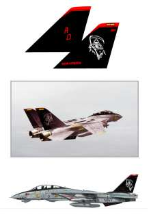 RC Plane Decal Stickers USA Navy Warbird F 14 Tomcat GRIM REAPERS