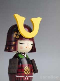 Japanese Samurai Kokeshi Doll Dolls / Bushi by Chie