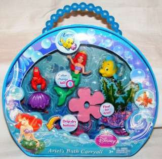 Disney Princess ARIEL Mini Doll Set BATH CARRYALL Polly Pocket