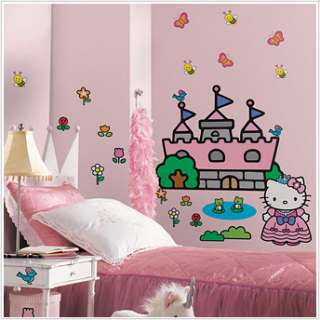 HELLO KITTY CHATEAU Décoration Murale GIGA STICKERS