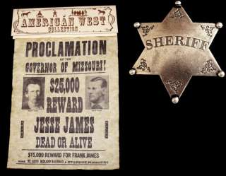 AMERICAN CIVIL WAR WILD WEST OUTLAW JESSE JAMES POSTER AND SHERIFFS