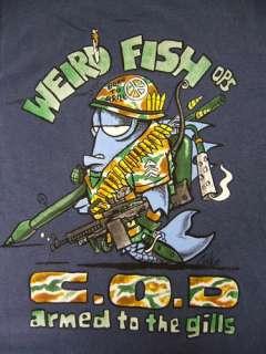 WEIRD FISH MENS C.O.D. T SHIRT BLUE CALL OF DUTY ALL SIZES