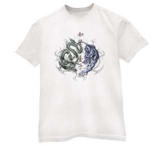 Japanese Tiger vs Dragon T Shirt tattoo oriental