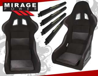 x2 SUPER LIGHT WEIGHT BUCKET SEAT+BRACKET 94 97 INTEGRA