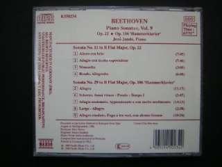 Beethoven Piano Sonatas Vol.9 Op.22 Op.106 Jeno Jando