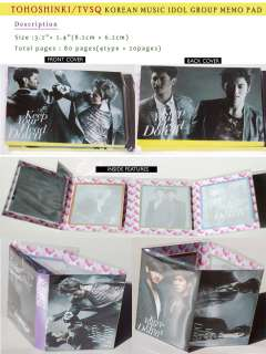 TOHOSHINKI TVXQ UKNOW MAX KOREAN MUSIC MEMO NOTEPAD