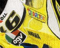 Valentino Rossi Camel Yamaha limited edition art print