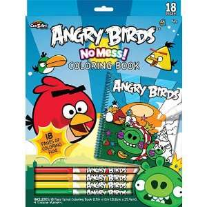 CraZArt Angry Birds No Mess Coloring Set: Toys & Games