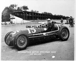 1949 LEE WALLARD INDY 500 MASERATI AUTO RACE CAR PHOTO!
