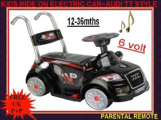 RIDE ON ELECTRIC BATTERY POWERED TOY CAR AUDI TT STYLE