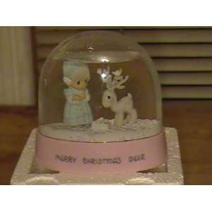 Precious Moments Merry Christmas Deer Snow Globe  Kitchen