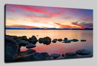 LANDSCAPE SUNSET CANVAS PRINT ART MANY SIZES & COLOURS & FREE POSTAGE