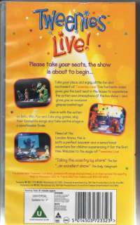 The Tweenies Live!   VHS PAL Video