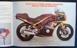 HARRIS MAGNUM   2 FRAME KITS   MOTORCYCLE SALES BROCHURE   Mid 1980s