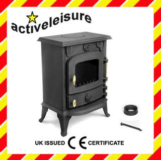 JA013 Cast Iron MultiFuel Wood Log Burning Stove 5kw 0608866256335