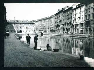 Cartella con 12 foto Frattini   Vecchia Milano 50 Rara