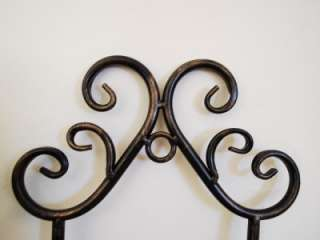 Wrought Iron French Wall Plate Holder Rack Display 50cm