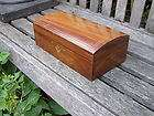 Large Vintage Antique WOODEN TREASURE CHEST JEWELRY BOX