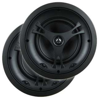 Pair of High End Round In Ceiling Speakers Black