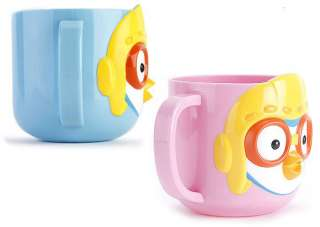 Pororo 3D cups for kids with blue or pink