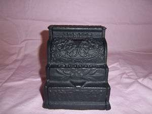 Vintage Cast Iron CASH REGISTER Coin Still Bank NICE