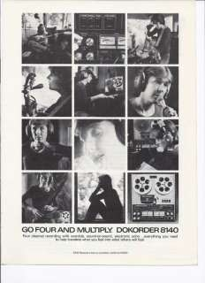 RARE 1976 Dokorder 8140 Reel to Reel Tape Deck Ad