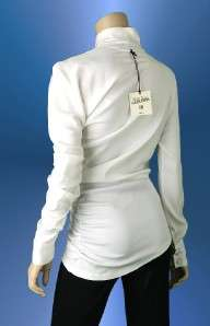 NEW JEAN PAUL GAULTIER WHITE ASYMMETRIC SILK FABULOUS SHIRT BLOUSE 44