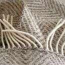 Buy Natural Herringbone Wool Throw By pebble & chalk from