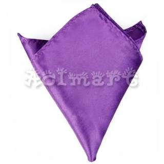 Mens Plain Satin Hanky Wedding Party Suit Handkerchief