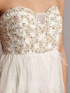 Homepage  Women  Dresses  Anoushka G Cher feather short