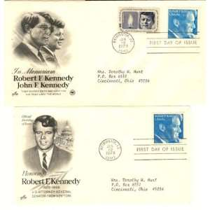 First Day Covers Commemorating Robert F. Kennedy, Extra Fine Condition