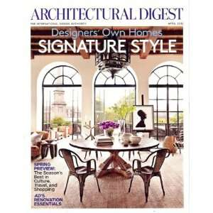 Architectural Digest 2012 April   Designers Own Homes