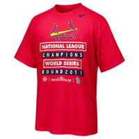 St. Louis Cardinals Nike Red 2011 National League Champions T Shirt