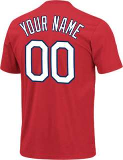 St. Louis Cardinals T Shirt Personalized Red Name & Number T Shirt