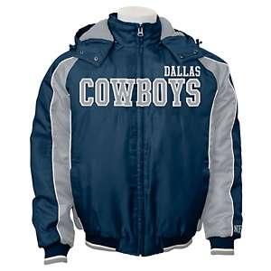 Dallas Cowboys Polyfill Oxford Jacket with Detachable Hood