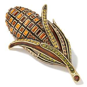 Heidi Daus Harvest Crystal Accented Corn Design Pin