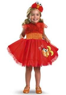 TV / Movie Costumes Sesame Street Costumes Girls Frilly Elmo Costume