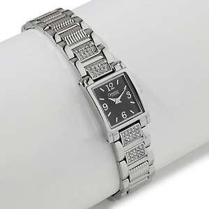 Caravelle Bulova Ladies Black Square Dial Bracelet Watch