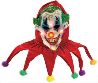 Evil Clown Mask with Lights   Clown Costume Accessories