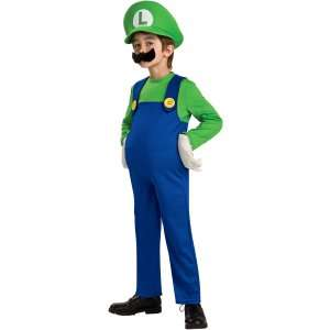 Super Mario Bros. Luigi Deluxe Toddler / Child Costume, 65027